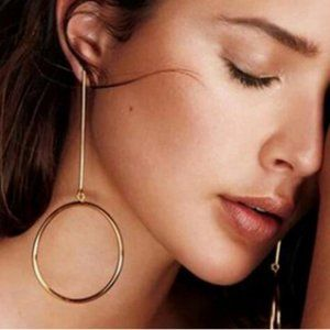 Unique Big Circles drop Earrings gypsy jewelry